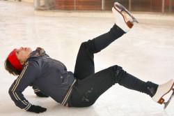 Падение - причина травмы колена
