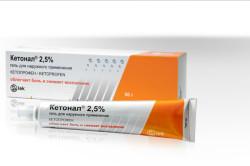 Кетонал для лечения вывиха