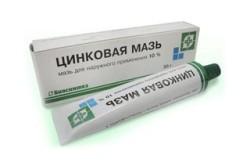 Мазь на основе цинка для заживления раны губ